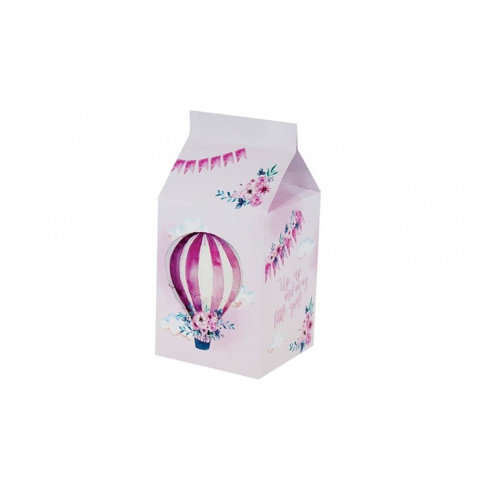 Milk Box με θέμα το Αερόστατο - Κορίτσι