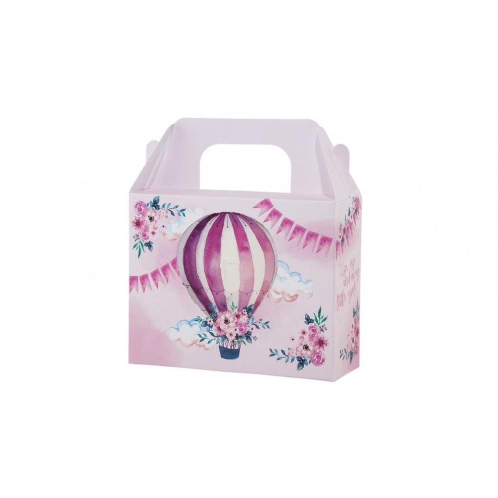 Lunch Box με θέμα το Αερόστατο - Κορίτσι